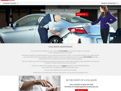 Miniaturka Honda Collision Assistance website screenshot