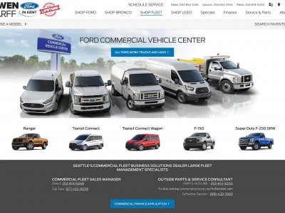 Miniaturka Ford Commercial Vehicle Center website screenshot